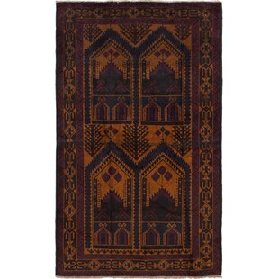 Price Check One-of-a-Kind Alaskan Hand-Knotted 3'11 x 6'5 Wool Orange/Black Area Rug By Isabelline