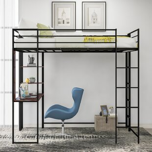 Cheadle Loft Bed with Desk and Shelves by Isabelle amp Max