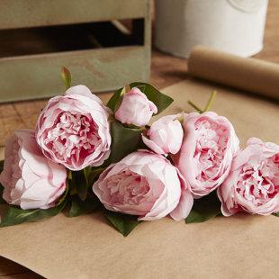 """Four 22/"""" Rose Bush Silk Flowers Artificial Plants 385"""