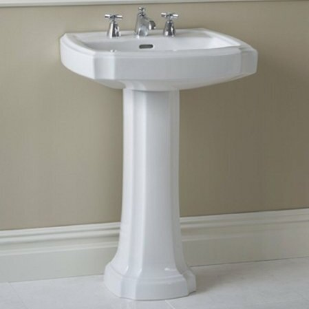 Guinevere Vitreous China 27 Pedestal Bathroom Sink With Overflow