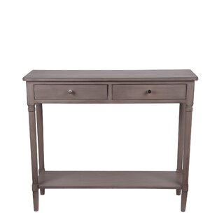 """Leslee 35.5"""" Solid Wood Console Table by Ophelia & Co. SKU:DE108943 Price Compare"""
