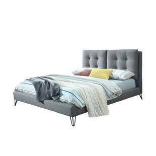 Bilst Metal Legs Queen Upholstered Platform Bed