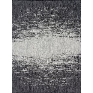 Pindall Gray/Black Indoor/Outdoor Area Rug