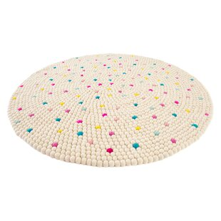 Deals Happy as Larry Sprinkles Felt Ball Rug By Walk On Me