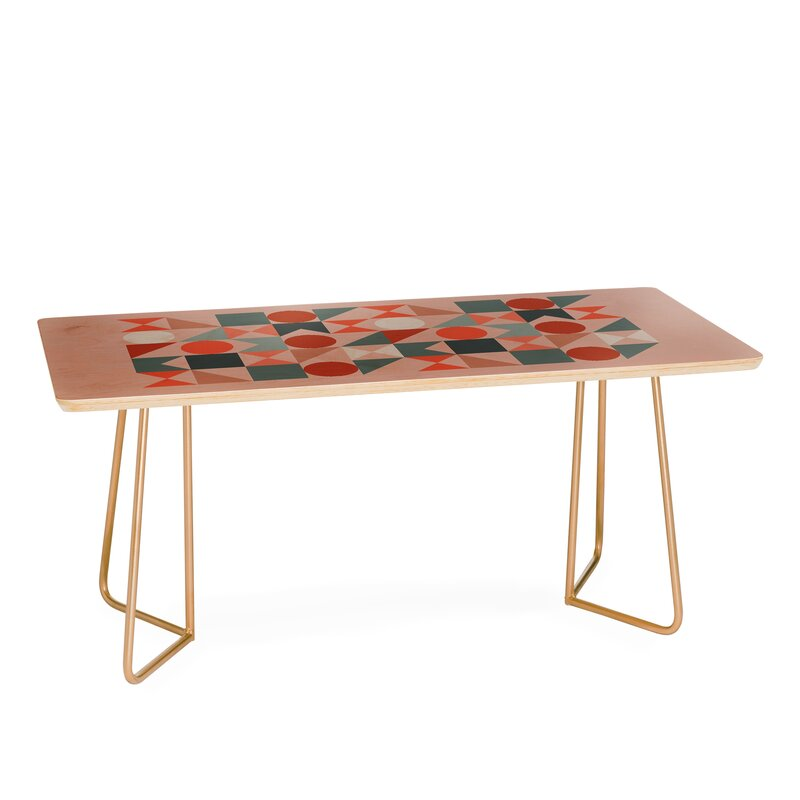The Old Art Studio Mid Century Geometric Coffee Table