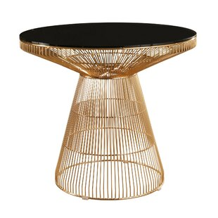 Kitchen Table Pedestals Modern contemporary gold dining table base allmodern brucie iron dining table workwithnaturefo