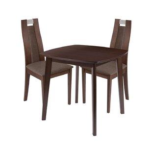 Ephraim 3 Piece Solid Wood Dining Set by Ebern Designs