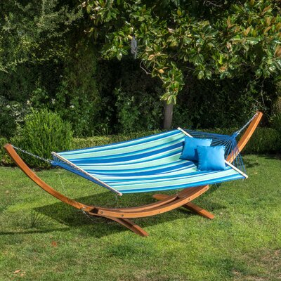 kouklia canvas hammock with stand bay isle home kouklia canvas hammock with stand   wayfair  rh   wayfair