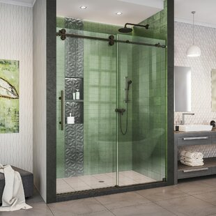 "Enigma-XO 55"" W x 62"" H Single Sliding Frameless Tub Door with ClearMax™ Technology"