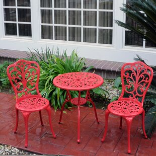 Mulic 3 Piece Bistro Set by August Grove