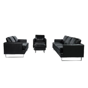 Orren Ellis Hitchcock Leather Sofa