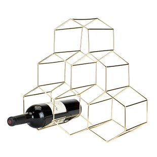 Belmont? Geomatric 6 Bottle Tabletop Wine..