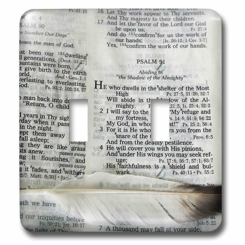 3drose A Bible Open To Psalm 91 And Marked With A Feather 2 Gang Toggle Light Switch Wall Plate Wayfair