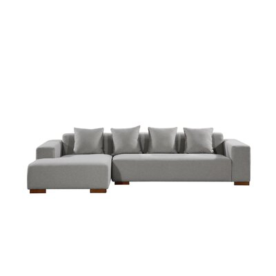 Brayden Studio Bracero Sectional Orientation: Right Hand Facing, Upholstery: Gray