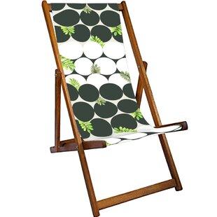 Geoffrey Reclining Deck Chair By World Menagerie