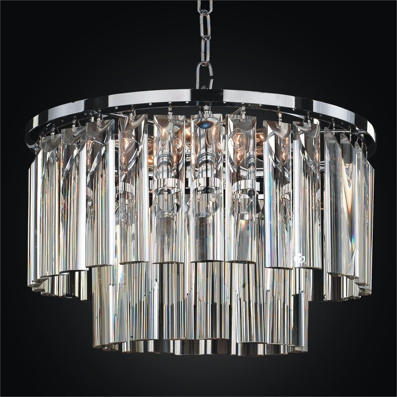 Wind Chime 5 Light Crystal Chandelier Chandelier For