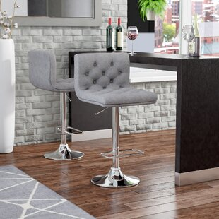 Mckayla Adjustable Height Swivel Bar Stool (Set of 2) Wade Logan