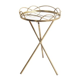 Aviles Metal Round End Table