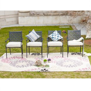 Oleary Patio Dining Chair with Cushion