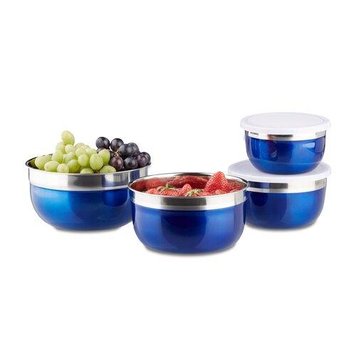 4-tlg. Frischhaltedosen-Set Relaxdays Farbe: Blau | Küche und Esszimmer > Aufbewahrung | Relaxdays