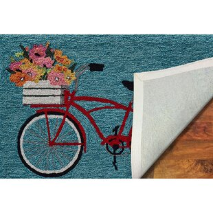 Mcmillan Bike Ride Blue Indoor/Outdoor Area Rug