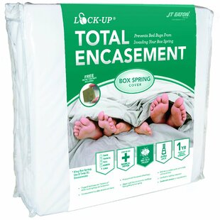 Lock-Up Total Encasement Box Spring Bed Bug Hypoallergenic Waterproof Mattress Protector by JT Eaton 2019 Sale