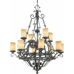 Volume Lighting Sevila 12-Light Shaded Chandelier