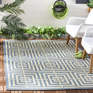 Romola Blue & Bone Indoor/Outdoor Area Rug