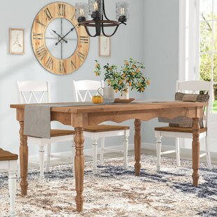 Pinard Solid Wood Dining Table Gracie Oaks