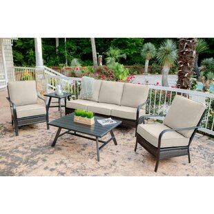 Gaydos 5 Piece Rattan Sofa Seating Group with Sunbrella Cushions by Charlton Home
