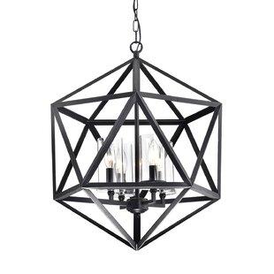 Venita 4-Light Geometric Chandelier by Williston Forge