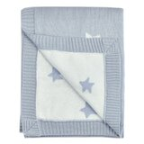 Dillman Reversible Knitted Star 100% Cotton Baby Blanket