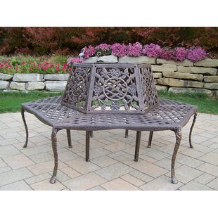 Tea Rose Aluminum Tree Bench