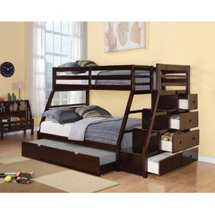 Freeport Wooden Twin over Full Bunk Bed with Trundle by Harriet Bee