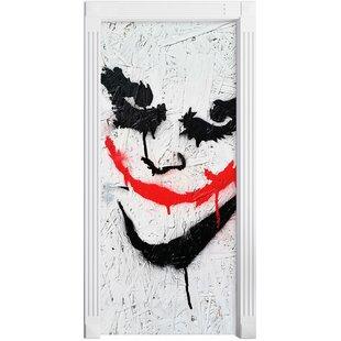 Joker In Danger Door Sticker By East Urban Home
