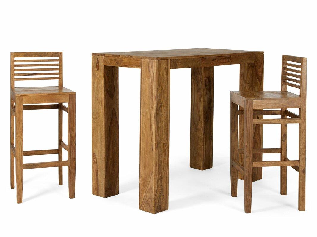 Stark 3 Piece Bar Table Set