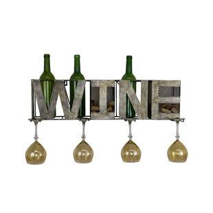 Metal 3 Bottle Wall Mounted Wine Rack by ..