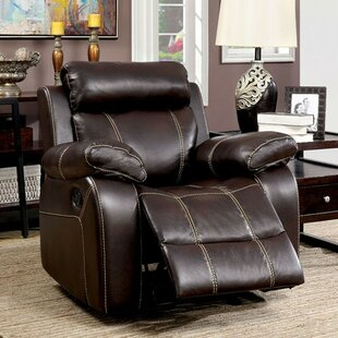 Red Barrel Studio Yizheng Manual Recliner with Contrast Stitching