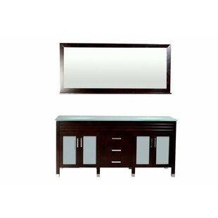 Dayton 72 inch  Double Bathroom Vanity Set with Mirror