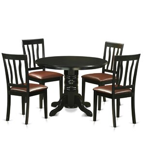 Langwater 5 Piece Pedestal Dining Set By Beachcrest Home