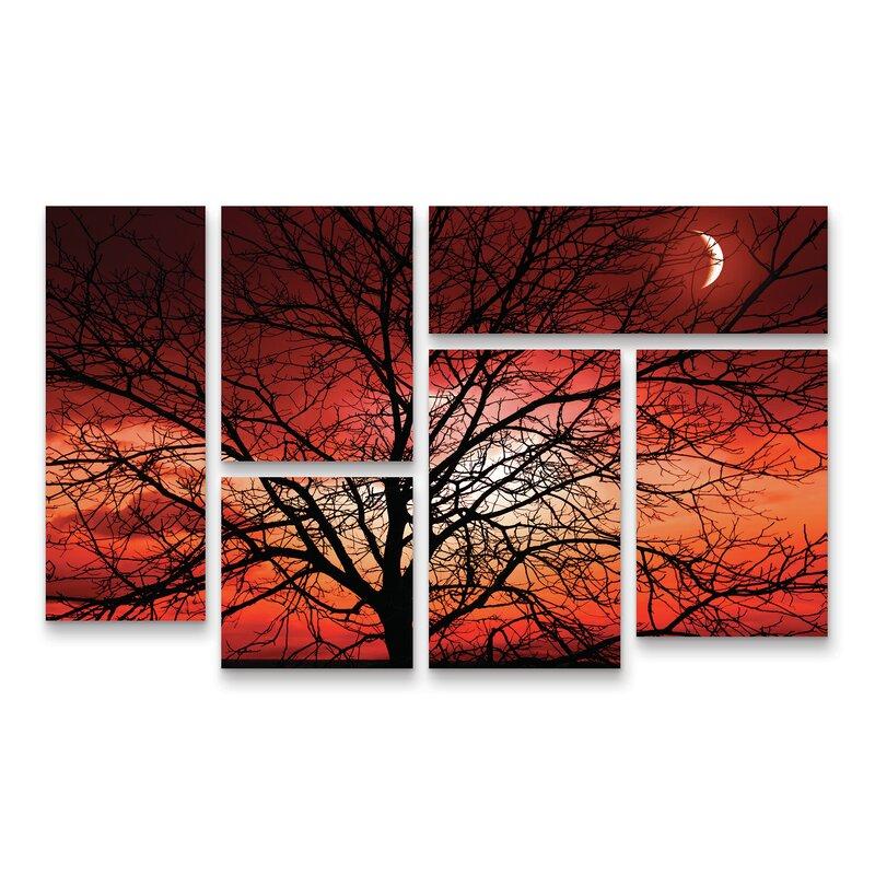 East Urban Home Big Bad Moon Photographic Print Multi Piece Image On Wrapped Canvas Wayfair