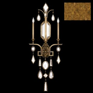 Encased Gems 3-Light Candle Wall Light By Fine Art Lamps