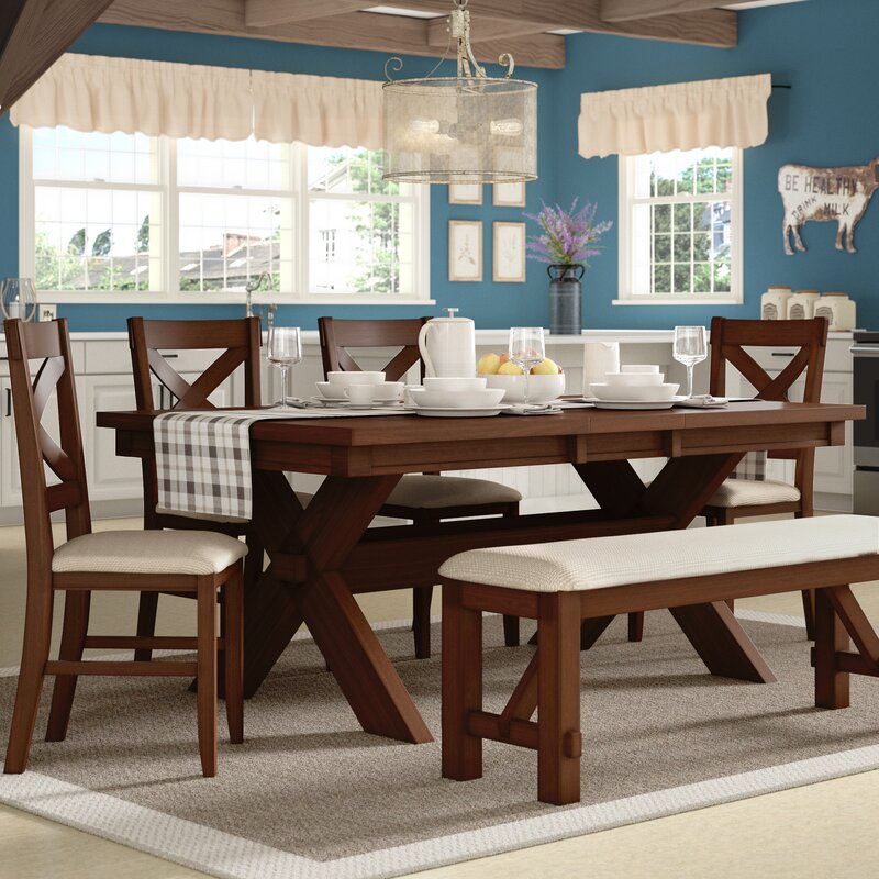Laurel Foundry Modern Farmhouse Isabell Extendable Solid Wood Dining Set Reviews