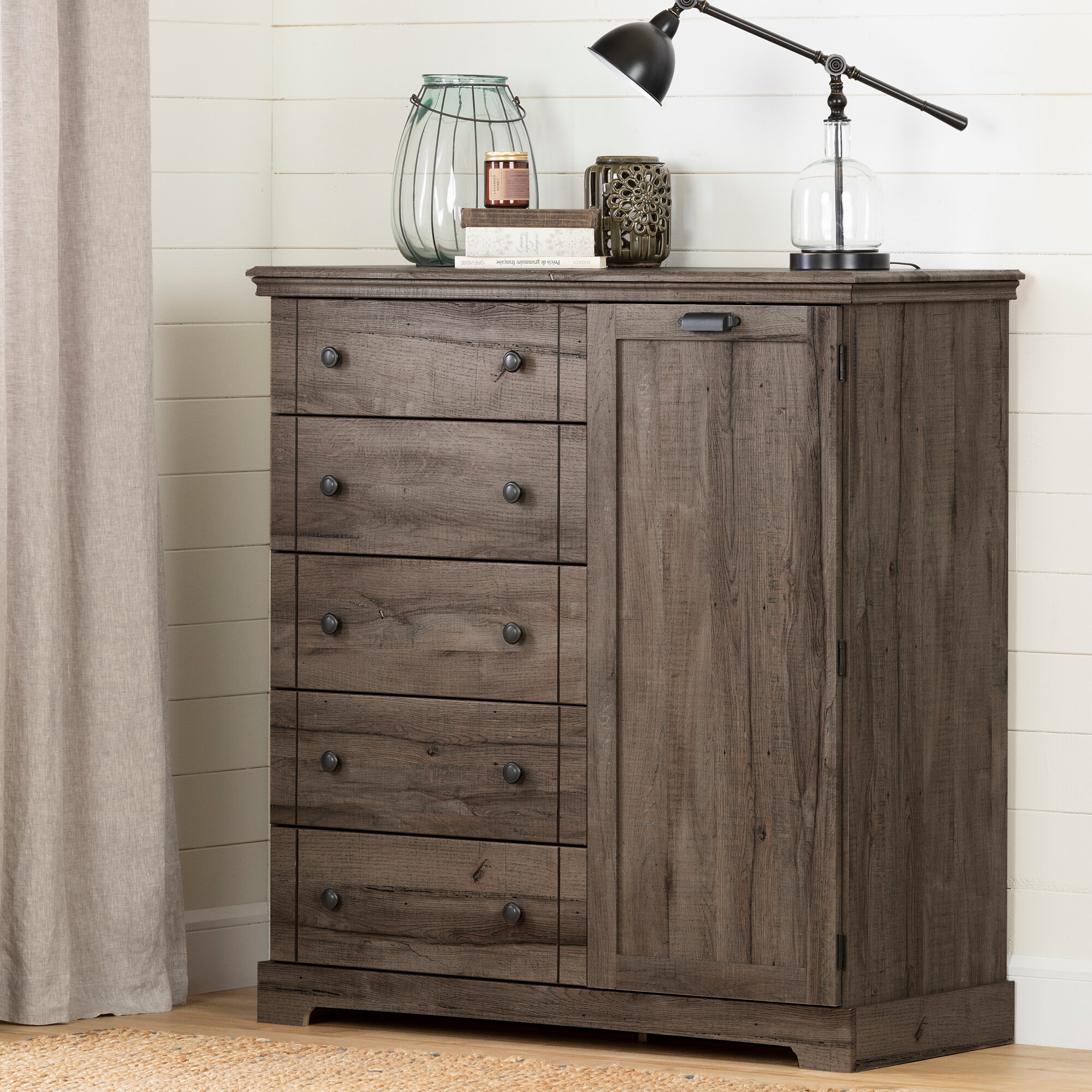 South Shore Avilla 5 Drawer Combo Dresser Reviews Wayfair