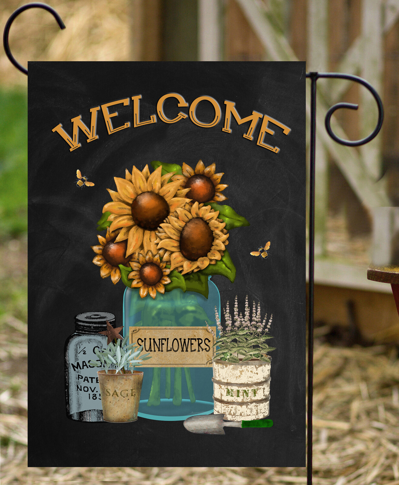 Flags Galore Decor And More Sunflowers 2 Sided Polyester 18 X 12 In Garden Flag Wayfair
