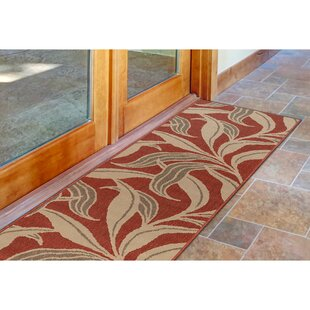 Mario Leaf Red Indoor/Outdoor Area Rug