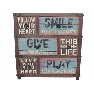 Find Leek Follow Your Hearts Vintage 6 Drawer Accent Chest ByRed Barrel Studio