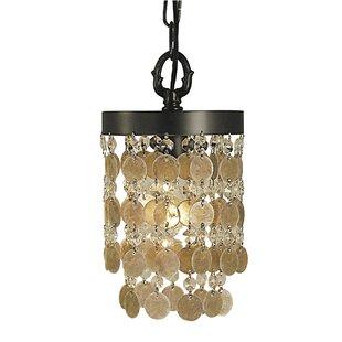 Nerys 1-Light Cylinder Pendant by Bungalow Rose