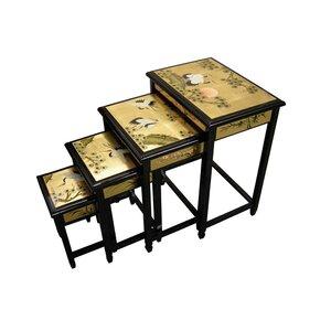 4-tlg. Satztisch-Set Gold Leaf von Grand International Decor