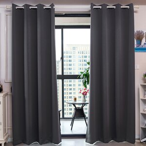Elinore Solid Blackout Thermal Grommet Curtain Panels (Set of 4)